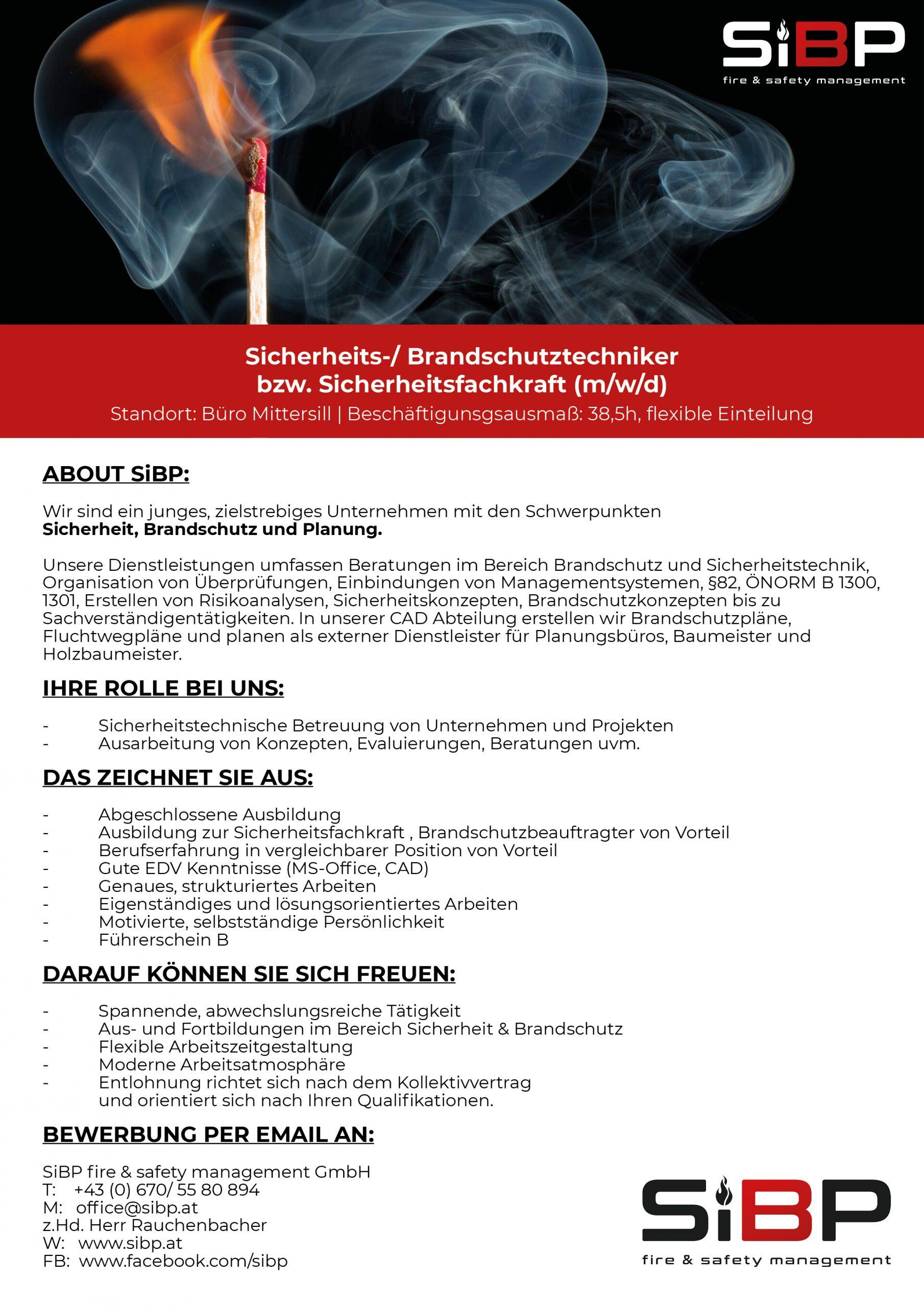 Sicherheits-/ Brandschutztechniker  bzw. Sicherheitsfachkraft (m/w/d)