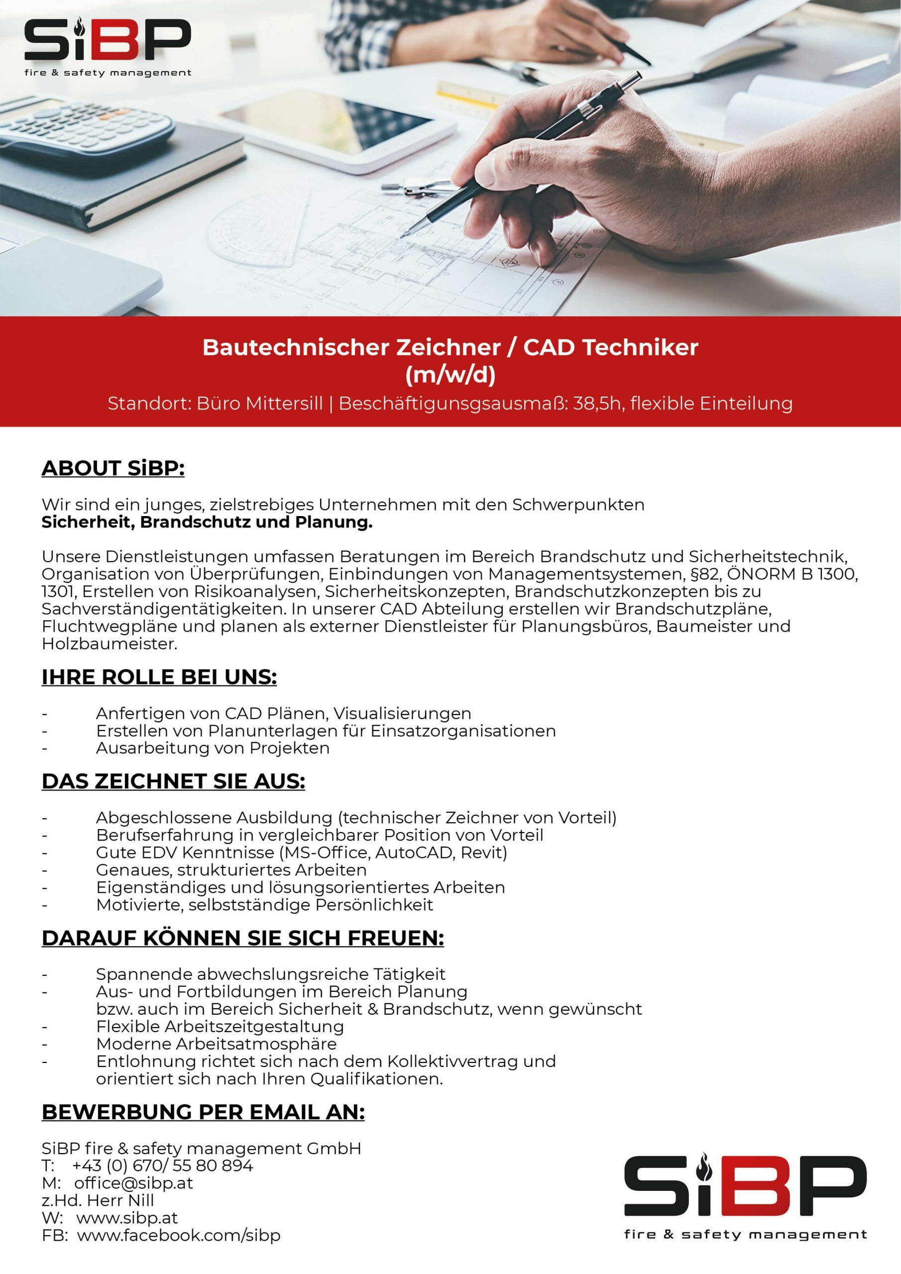 Bautechnischer Zeichner / CAD Techniker  (m/w/d)